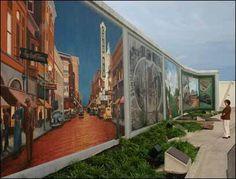 paducah ky flood wall murals   Robert Dafford's murals on Paducah's flood walls along the Ohio River ...