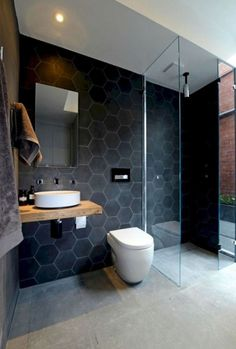 Modern Bathrooms With Wall-Mounted Toilets Browse modern bathroom ideas images to bathroom remodel, bathroom tile ideas, bathroom vanity, bathroom inspiration for your bathrooms ideas and bathroom design Read Bathroom Renos, Laundry In Bathroom, Bathroom Interior, Bathroom Ideas, Bathroom Vanities, Bathroom Remodeling, Remodel Bathroom, Bathroom Designs, Bathroom Rack