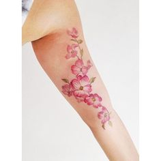 50 beautiful coloured tattoos, from florals to geometric shapes ❤ liked on Polyvore featuring accessories and body art