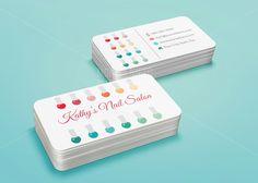 nail art business cards - Buscar con Google