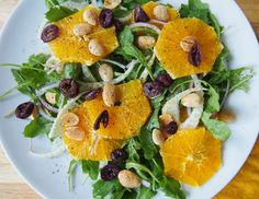 Citrus and Arugula Salad with Marcona Almonds and Fennel - Avocado a Day