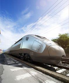 Alstom tren transporte luz líneas de la parte...