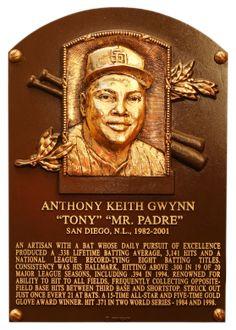 Tony Gwynn, OF, San Diego Padres, Baseball Hall of Fame