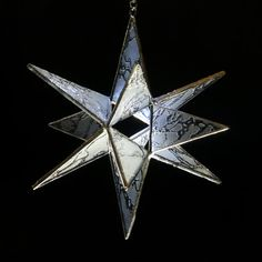 Snowflake Art Glass Star Price: $49. Enter the coupon code PIN10 at checkout from colorandlight shop to get 10% off your entire order.