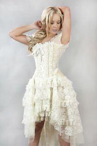 New-Vintage-Victorian-Gothic-Steampunk-Evening-Corset-Burleska-Dress-N66