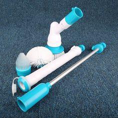 Bathtub Tiles power Floor Cleaner Brush Mop Scrubs Clean #Unbranded