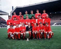 @manutd line up ahead of the 1968/69 season fresh from the achieving the club's first European Cup win - the first English club to do so.