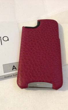 Vaja Ivolution Grip Premium Leather Case for iPhone 4 - Beet red and Black  $110.00 #bonanza