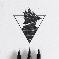 Dark Sails-Blackwork Series. #illustration #sketch #drawing #penandink #sails