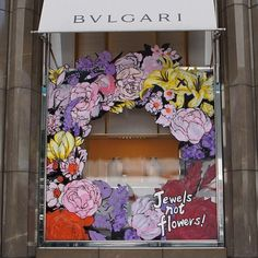 Live from Tokyo, artist Manga Designer's Lab's team painted the Bulgari's Tokyo Ginza Boutique window with flower-themed guerrilla art inspired by precious Bulgari Jewels. Blossoming with urban flowers, Bulgari celebrates the re-entry of spring and brilliant Mother's Day. #jewelsnotflowers