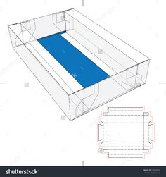 Tray Box With Blueprint Layout Stock Vector Illustration 170578259 : Shutterstock