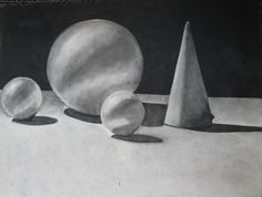 door Krista Steegmans : het obligate werk in een kunstaca (houtskool)
