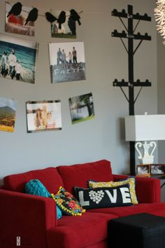 Farmgirl Paints: Love the utility lines hung with photos.  Clever idea.