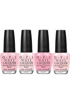 Pretty in pink bridal nail polish