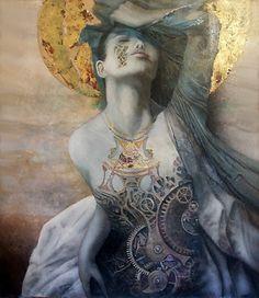 """Artiste peintre Pascal Dugourd: """"Les femmes horloges""""de l' artiste peintre Dugour..."""
