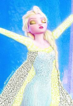 Lightning Elsa. I tried to make the outside of her cape look like lightning in the sky. Credit Ella E.