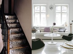 Personal & Interior Style – Page 3 Mirror Ball, Interior Styling, Animal Print Rug, Stairs, Home Decor, Style, Interior Decorating, Swag, Disco Ball
