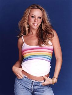 If I get my hair the way I want I could make a shirt like this and go as Mariah for Halloween!