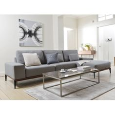 Click to zoom - Malmo right hand sofa grey