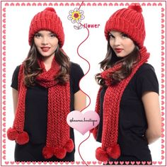 Red Vegan Chunky Soft Knit Scarf & Hat Set HPNWT chunky, warm and super soft knit scarf and hat set is the ultimate must have for the colder seasons! FEATURES: chunky knit surface, the softest texture, poms on hem of scarf, fold over hem beanie, pom on top of beanie.  Man Made MaterialsVegan Friendly AVAILABLE:BlackBrownGrayMagenta PinkPurpleRedWinter White Please Don't Buy ListingComment & I'll Create Your Listing ✅Bundle Discounts✅Reasonable Offers✅Smoke-Free✅❌Trades❌ Laura's Boutique…