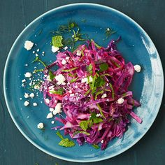Red Cabbage with Feta and Mint