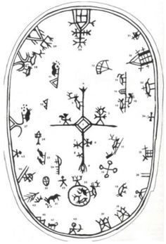 Shaman´s drum symbols in Scandinavia Lappland, Art Premier, Asatru, Thinking Day, Norse Mythology, Tribal Art, Art Plastique, Ancient Art, Rock Art