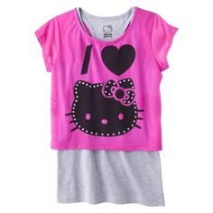 @Target Hello Kitty Hello Style Girls' Tee - Pink/Gray Rating: Not rated: be the first to review $16.99 Online  only L & XL