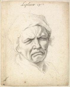 Le Pleurer : tête d'homme Le Brun Charles (1619-1690) Réunion des Musées Nationaux-Grand Palais -