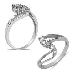 Ebay NissoniJewelry presents - Ladies 1/5CT Diamond Fashion Ring in 10k White Gold    Model Number:FR6965D-W074    http://www.ebay.com/itm/Ladies-1-5CT-Diamond-Fashion-Ring-in-10k-White-Gold/221630535982