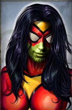 Spider-Woman Skrull by Greg Horn