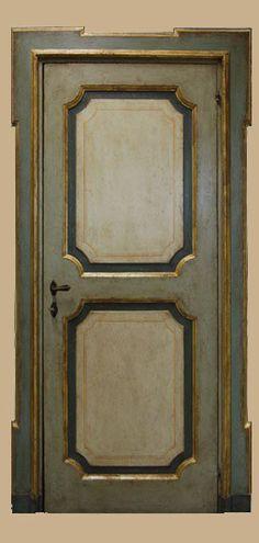 Reproductions of antique italian painted doors - Porte del Passato Shabby Home, Shabby Chic, Gold Trim Walls, Italian Doors, Door Coverings, Painted Doors, French Decor, Miniature Dolls, Chalk Paint