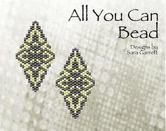 Peyote Earrings Pattern 130 Bead Weaving INSTANT DOWNLOAD PDF Odd Count