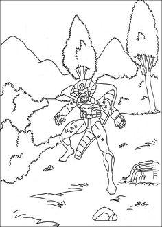Captain America Målarbilder för barn. Teckningar online till skriv ut. Nº 12