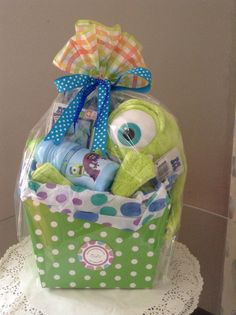 Monsters gift basket./disney theme would be cute!