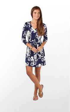Westerly Dress in Bright Navy Touchy Feely (w/o 1/16/12)