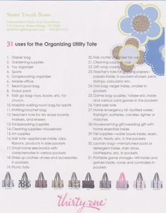 31 Ideas for the Organizing Utility Tote - Thirty-One Products