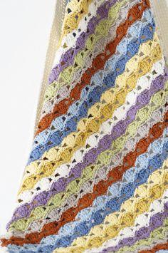 Baby Blanket Aubrey Crochet Pattern Vintage PDF by LittleDoolally