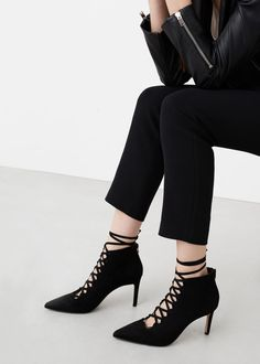Botín cordones - Zapatos de Mujer | MANGO México