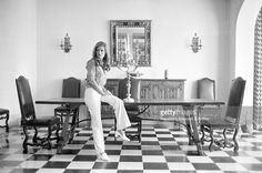 Italian-born French singer and actress Dalida posing in her house. Paris, 1968