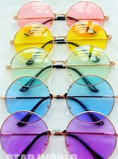 Discount! Women Sunglasses 2015 Retro UV Resistance Radiation Protection  Metal Round Color Mirror Sun Glasses for Ladies caf70cde8b46