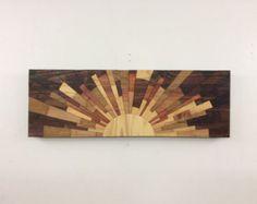 wooden wall art Electric Atlantic 48x24 Oak di StainsAndGrains