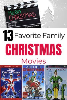 13 favorite family Christmas movies to watch this Christmas. Pick one of these fun Christmas movies and have a fun holiday movie night.