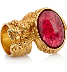 YSL ring red and gold via glam.co.uk