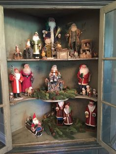 My Red Cape: Once upon a Christmas Time Part Three Antique Christmas, Primitive Christmas, Christmas Items, Christmas Design, Primitive Santa, Doll Display, Christmas Blessings, Christmas Decorations, Holiday Decorating