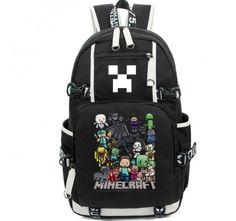 Minecraft Backpack Black Schoolbag New Version Video Game Backpacks, Minecraft  Backpack, Girl Backpacks, 6b48c42a41