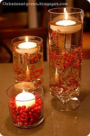 I love this simple centerpiece idea. Would leaves hold up in water?