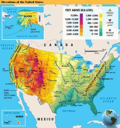 The United States Geography For Kids, Sea Level, Pacific Ocean, Arctic, Alaska, United States, The Unit, Science
