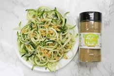 Zucchini Noodles with Creamy Rosemary Lemon Sauce