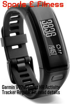 Garmin V??vosmart HR Activity Tracker Regular Fit - Black ... (This is an affiliate link) Garmin Vivosmart Hr, Sony Phone, Smartphone, Fitness Watches For Women, Best Fitness Tracker, Workout Accessories, Fitness Accessories, Heart Rate, Sport Watches