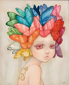 Painting: Camilla Del Rico #Art #Painting #Inspiration #Pinterest #Butterflies